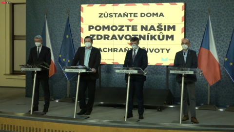 tisková konference vlády 26.2.2021
